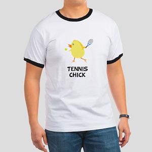 Tennis Chick Ringer T