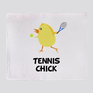 Tennis Chick Throw Blanket