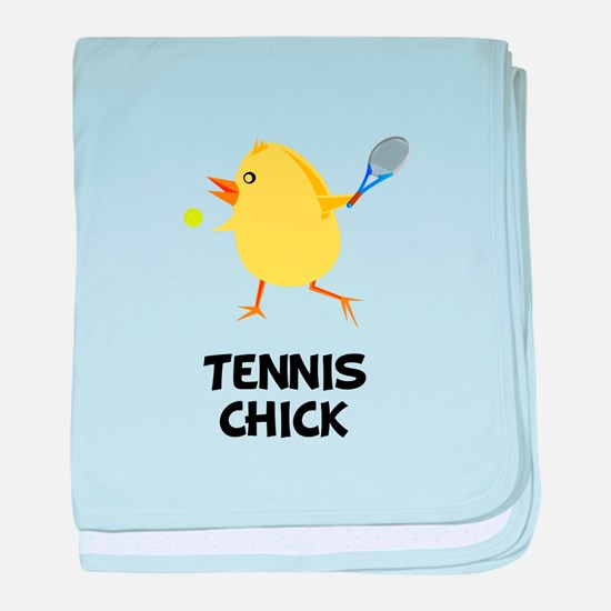 Tennis Chick baby blanket