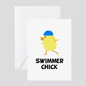Swimmer Chick Greeting Card