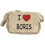 I heart boris Messenger Bag