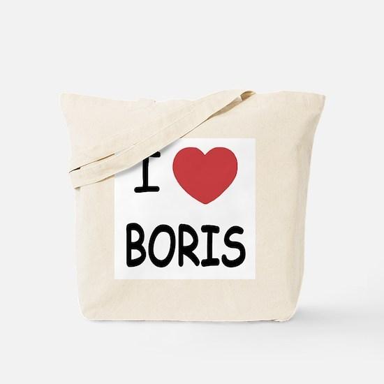 I heart boris Tote Bag