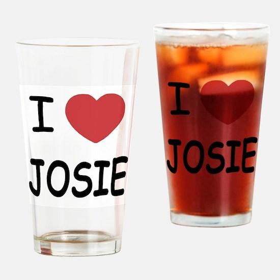 I heart josie Drinking Glass