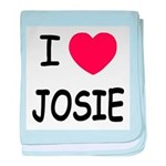 I heart josie baby blanket