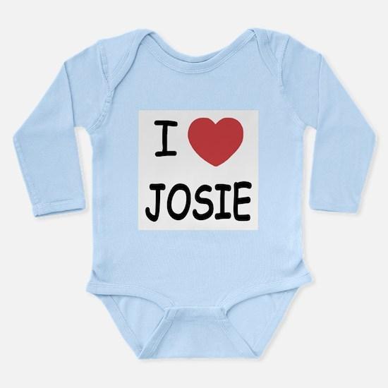 I heart josie Long Sleeve Infant Bodysuit