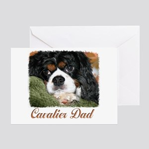 Cavalier Dad Greeting Card