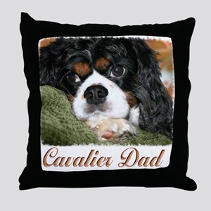 Cavalier Dad Throw Pillow