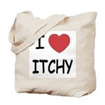I heart itchy Tote Bag