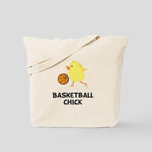 Basketball Chick Tote Bag