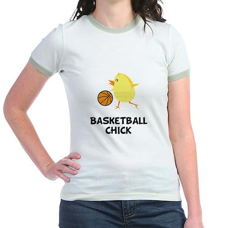 Basketball Chick Jr. Ringer T-Shirt