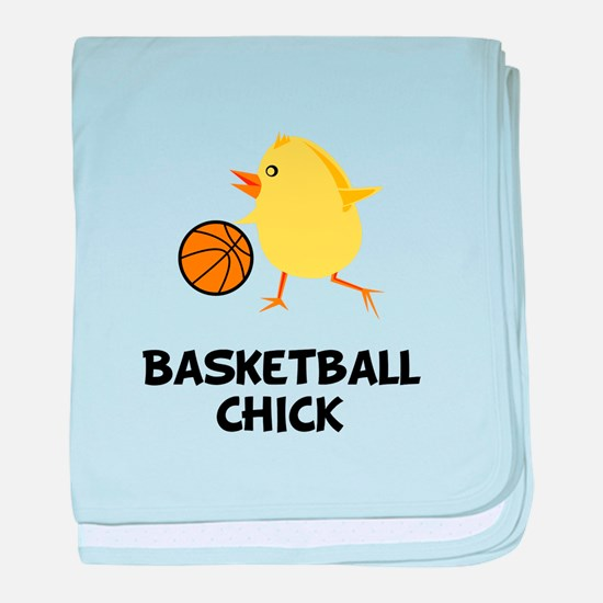 Basketball Chick baby blanket