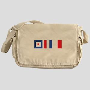 WTH Nautical Flags Messenger Bag