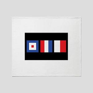 WTH Nautical Flags Throw Blanket