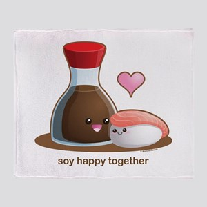 Soy happy together Throw Blanket