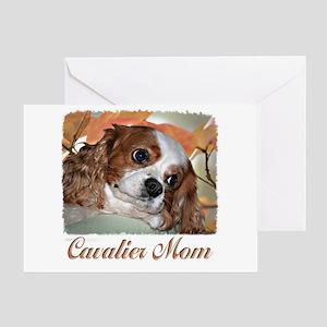 Cavalier Mom Greeting Card