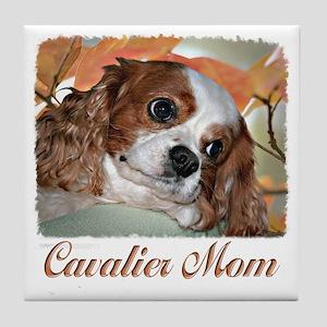 Cavalier Mom Tile Coaster