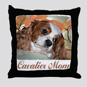 Cavalier Mom Throw Pillow