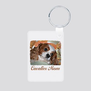 Cavalier Mom Aluminum Photo Keychain
