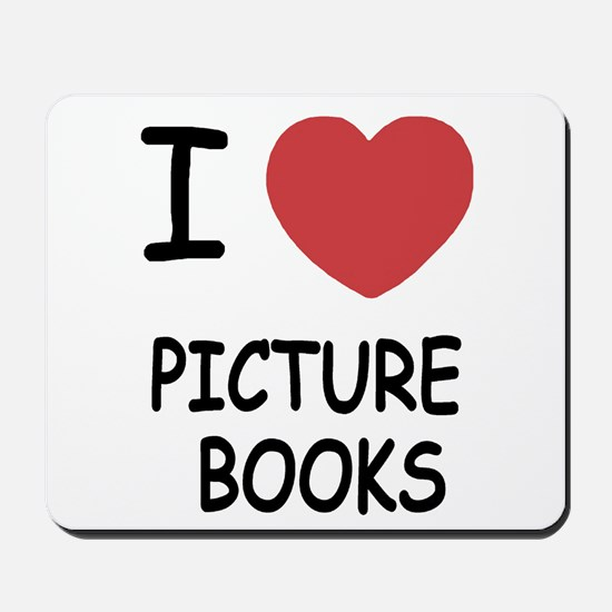 I heart picture books Mousepad