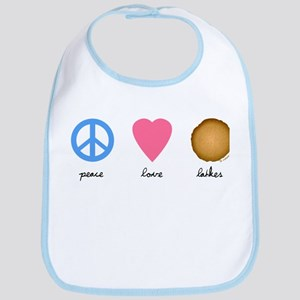 Peace Love Latkes Bib