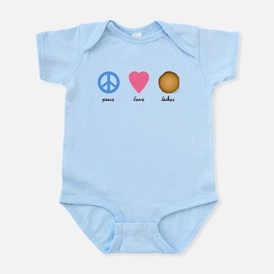 Peace Love Latkes Infant Bodysuit