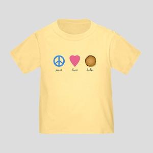 Peace Love Latkes Toddler T-Shirt