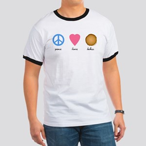 Peace Love Latkes Ringer T