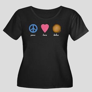 Peace Love Latkes Women's Plus Size Scoop Neck Dar