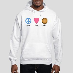 Peace Love Latkes Hooded Sweatshirt