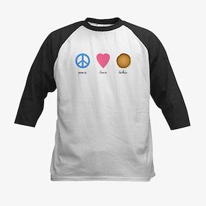 Peace Love Latkes Kids Baseball Jersey