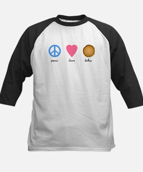 Peace Love Latkes Kids Baseball Jersey