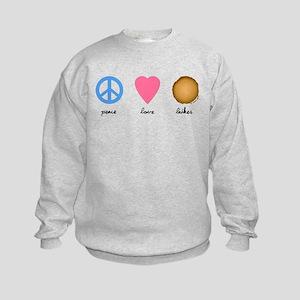 Peace Love Latkes Kids Sweatshirt