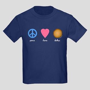 Peace Love Latkes Kids Dark T-Shirt
