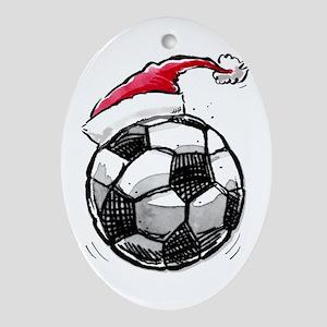 Xmas Soccer Ornament (Oval)
