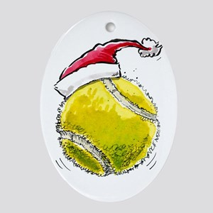 Xmas Tennis Ornament (Oval)
