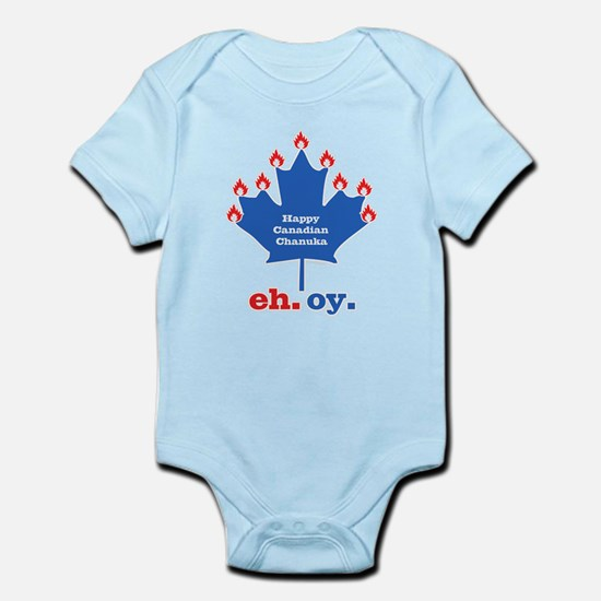 Canadian Chanuka Infant Bodysuit