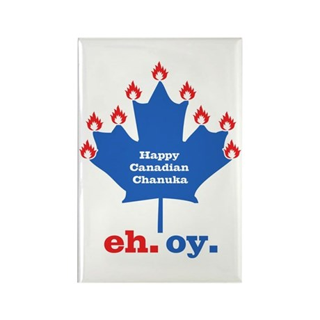Canadian Chanuka Rectangle Magnet