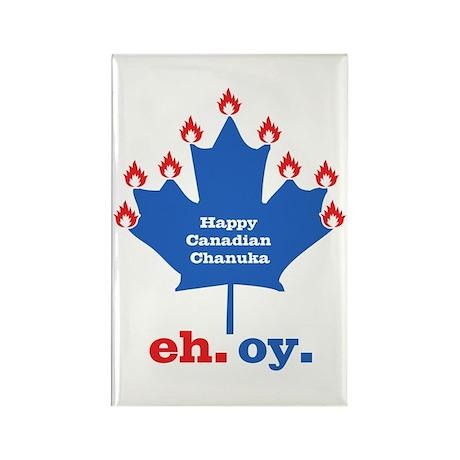 Canadian Chanuka Rectangle Magnet (10 pack)