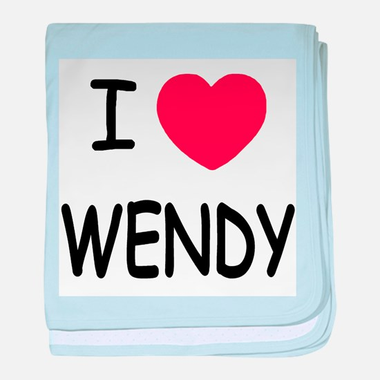 I heart wendy baby blanket
