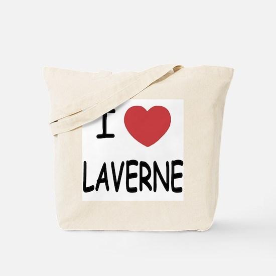 I heart laverne Tote Bag
