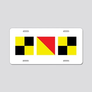 LOL Nautical Flags Aluminum License Plate
