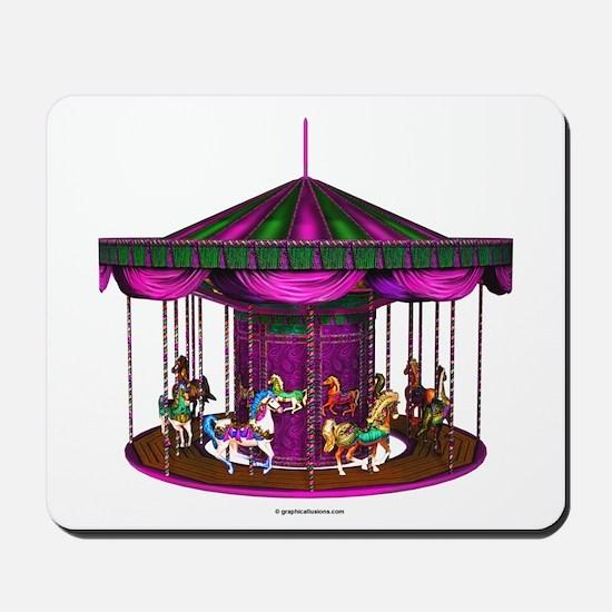 The Purple Carousel Mousepad