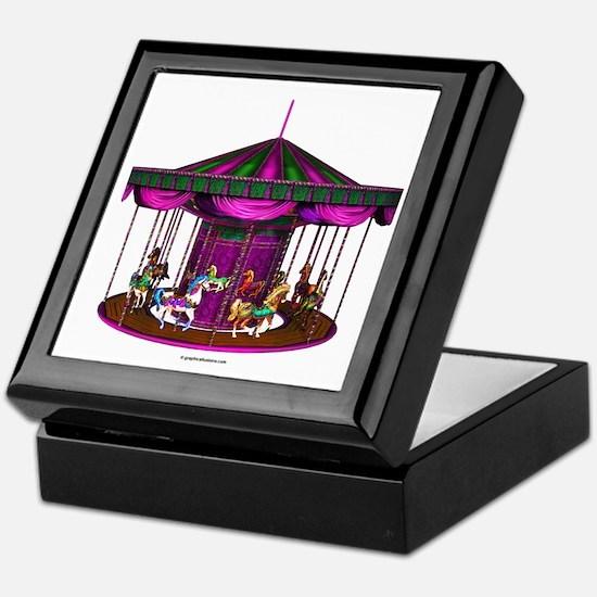 The Purple Carousel Keepsake Box