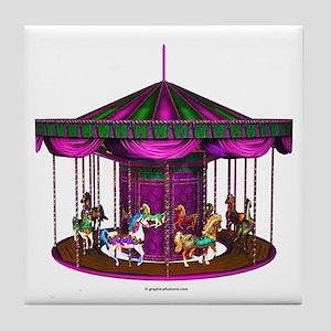 The Purple Carousel Tile Coaster