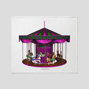 The Purple Carousel Throw Blanket