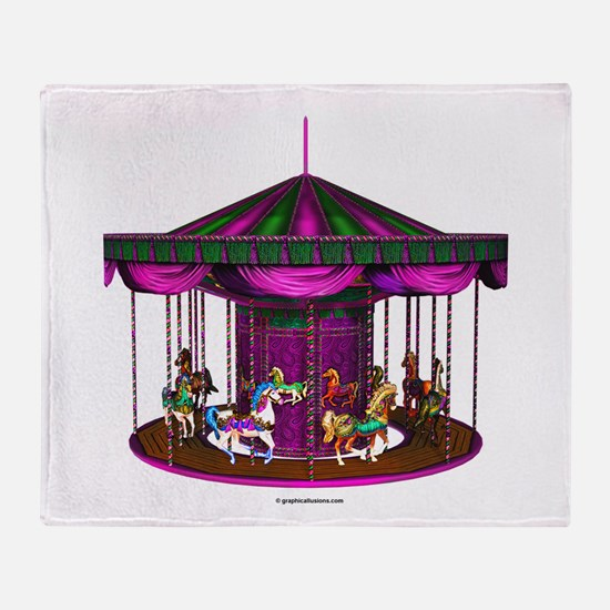 The Purple Carousel Throw Blanket
