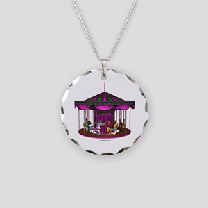The Purple Carousel Necklace Circle Charm
