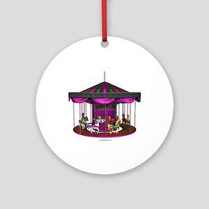 The Purple Carousel Ornament (Round)