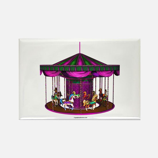 The Purple Carousel Rectangle Magnet