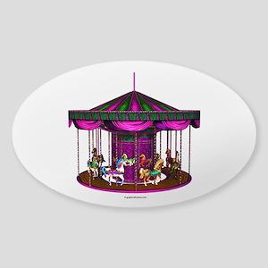 The Purple Carousel Sticker (Oval)